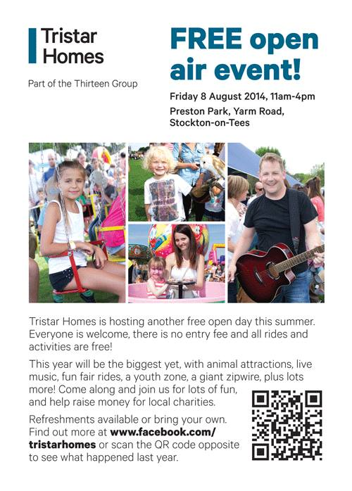 Tristar Homes Family Open day | FREE | 8 August 14 - Preston Park - Stockton on Tees