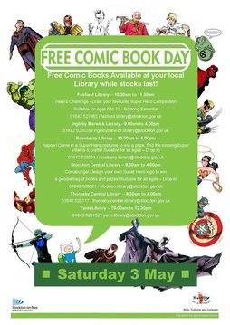 Celebrate Free Comic Book Day at Stockton Libraries!