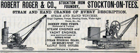 Robert Roger &co , Stockton Iron works ,December 1889