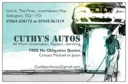 cuthys autos car servicing and repairs in stockton on tees