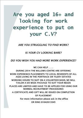 cv help for teenagers in stockton on tees