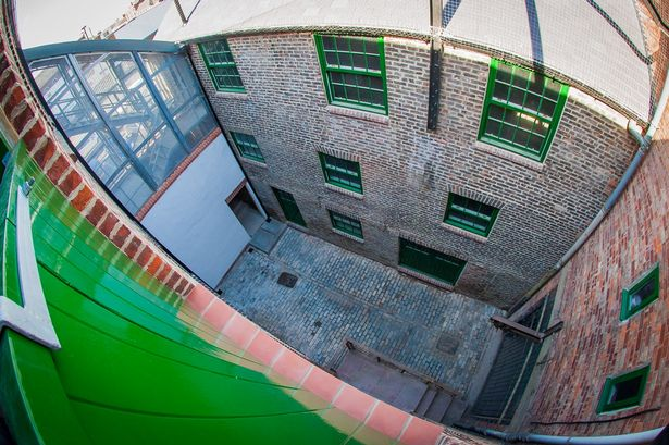 fisheye view of west row arts centre