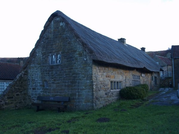 Spout House with its small mullioned windows.