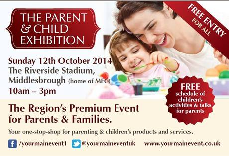 2nd Parent & Child Exhibition, The Riverside Stadium, Middlesbrough (home of MFC) Sunday 12th October 2014.