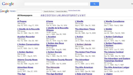 Google redesigns new archives ,old newspapers